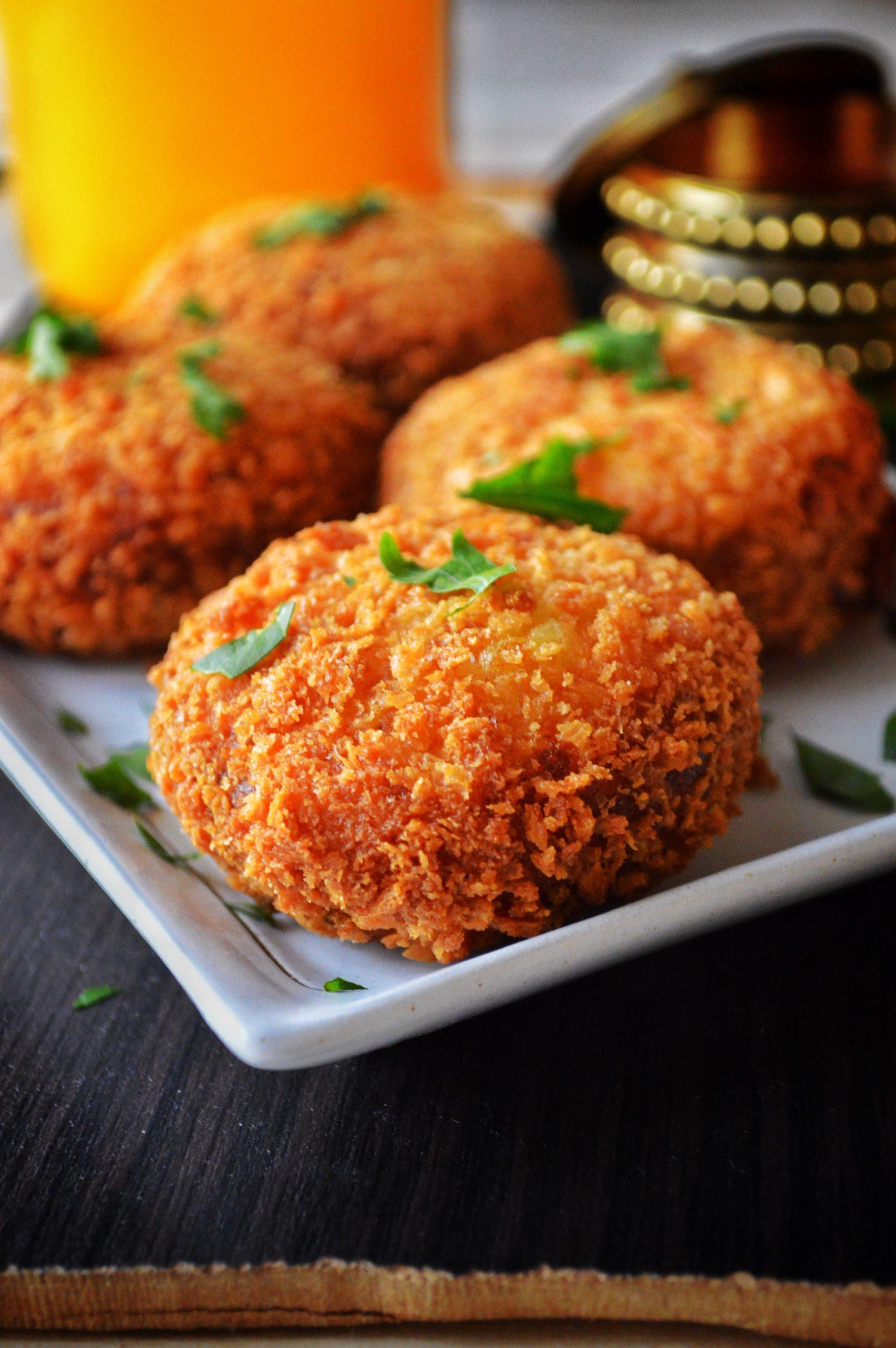 Potato Chops (Meat-Stuffed Indian Potato Pancakes) Recipe ...
