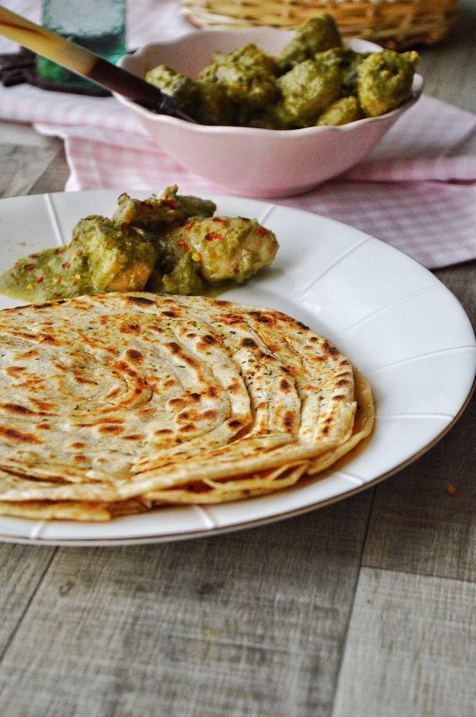 ... Lachcha Paratha/ Mint Garlic Flaky Flat Bread - Savory&SweetFood