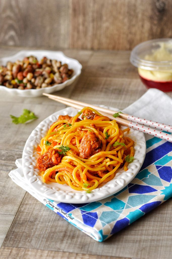 Spicy Chicken Chinese Noodles