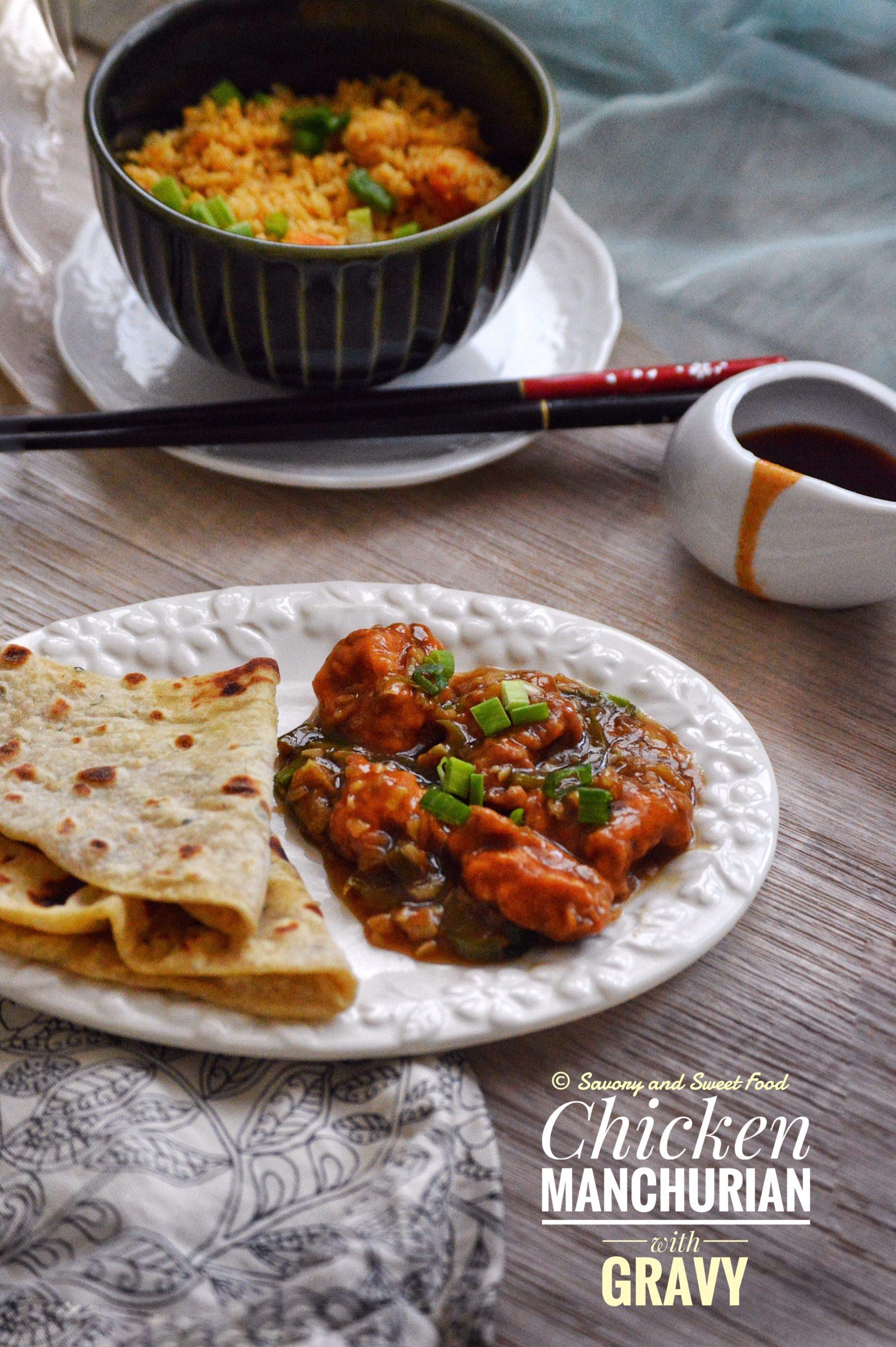 Chicken Manchurian with Gravy - Savory&SweetFood