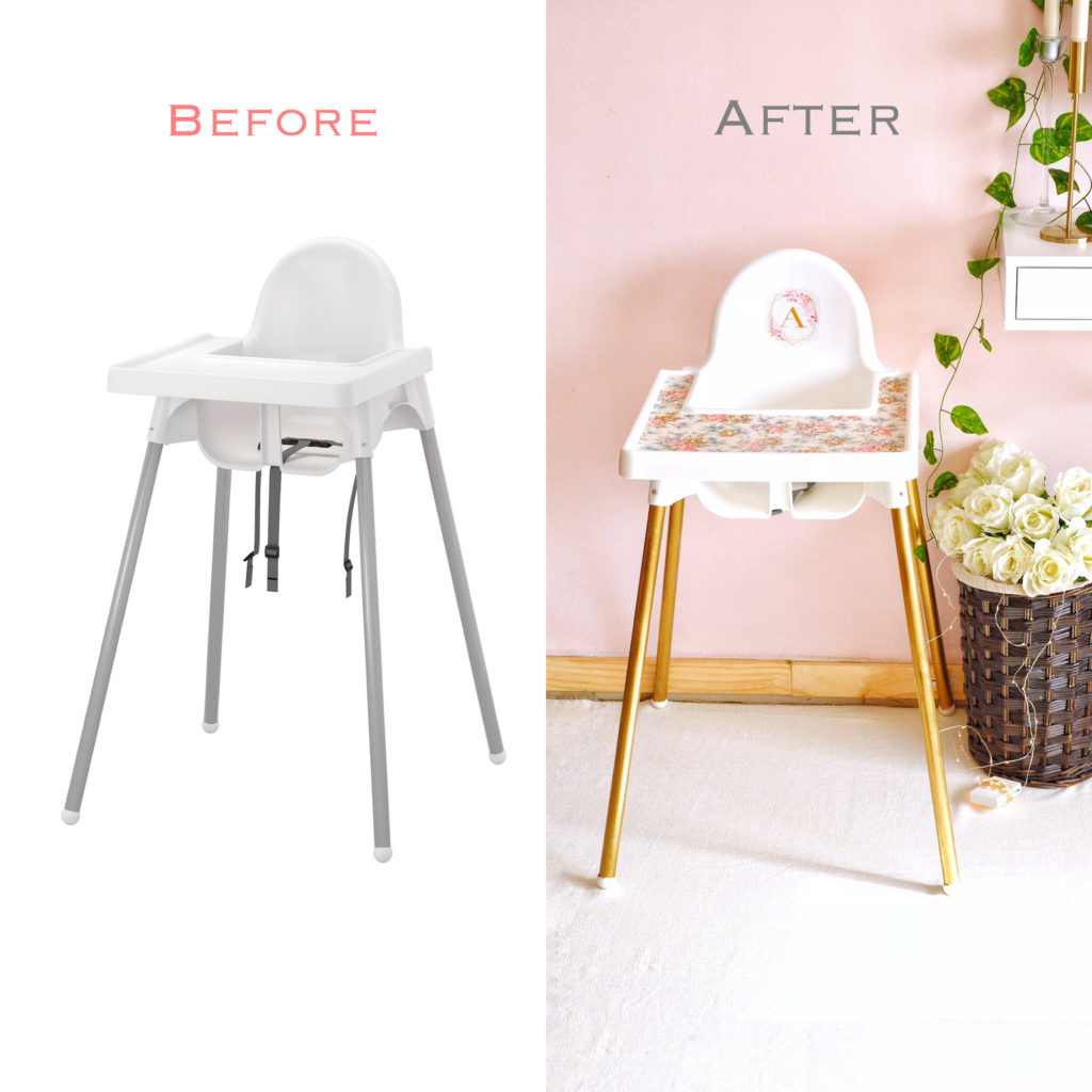 IKEA Antilop Baby Chair Makeover - Savory&SweetFood